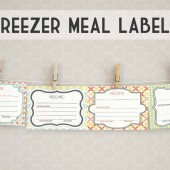 Printable Freezer Meal Labels. | Thriving Home