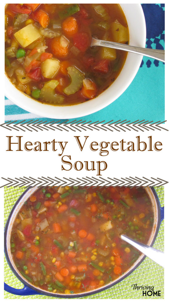 Use any combination of vegetables in your fridge and pantry to make this hearty, delicious vegetable soup.