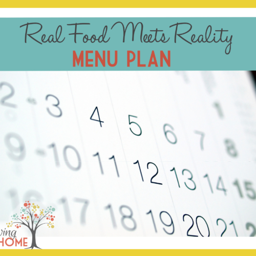 """Real Food Meets Reality"" Menu Plan"