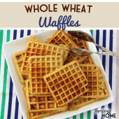 Whole Wheat Waffles--Real Food Version of Eggo!