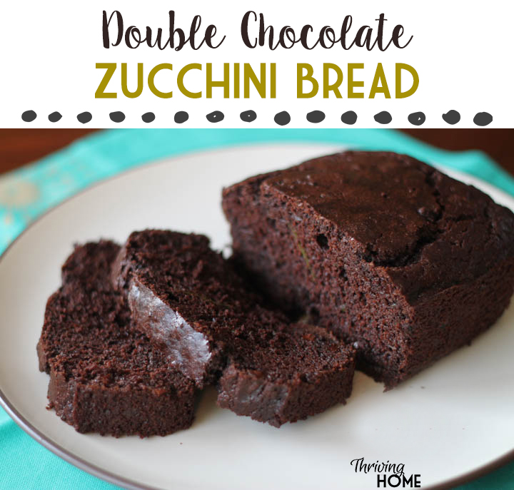 Double Chocolate Zucchini Bread. A delicious and healthy twist on normal zucchini bread.