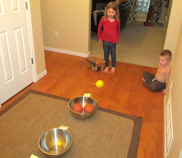ball toss counting game