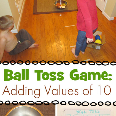 Ball Toss Game: Learning to Add by 10s
