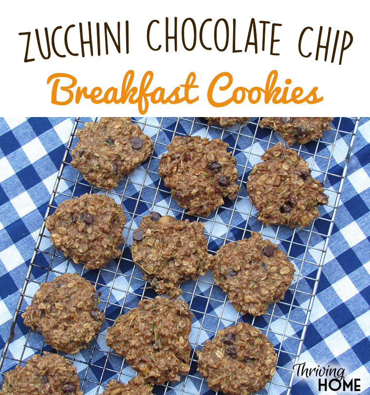 Zucchini Chocolate Chip Breakfast Cookies