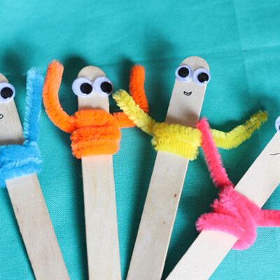 Pipe Cleaner Craft: Popsicle Pals
