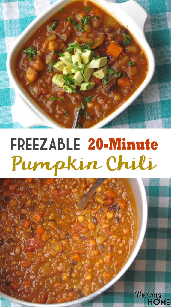 Want a super nutritious, flavorful recipe that can feed a crowd, won't break the bank, or doesn't take much time? Your family will enjoy this healthy pumpkin chili.