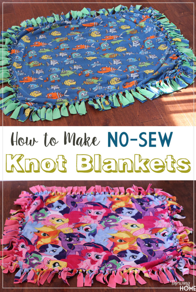 Tutorial on how to make knot blankets