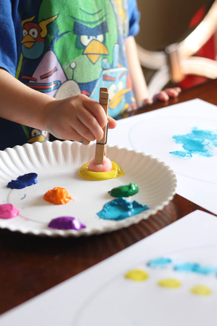 Easy Easter Craft Painting Eggs With Pom Pom Balls Thriving Home