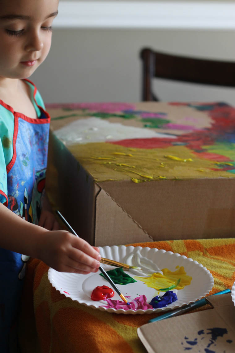 Preschool Activity -- Paint a Box-3