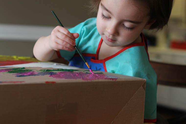 Preschool Activity -- Paint a Box