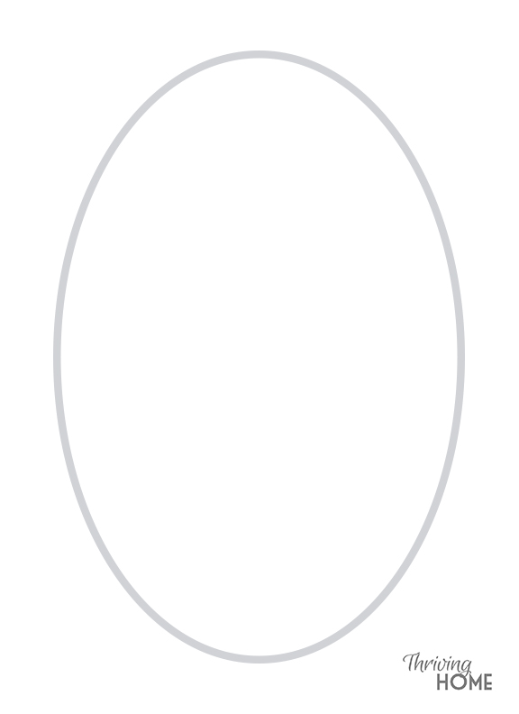 Printable Easter Egg Template
