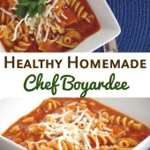 Healthy Homemade Chef Boyardee Pasta