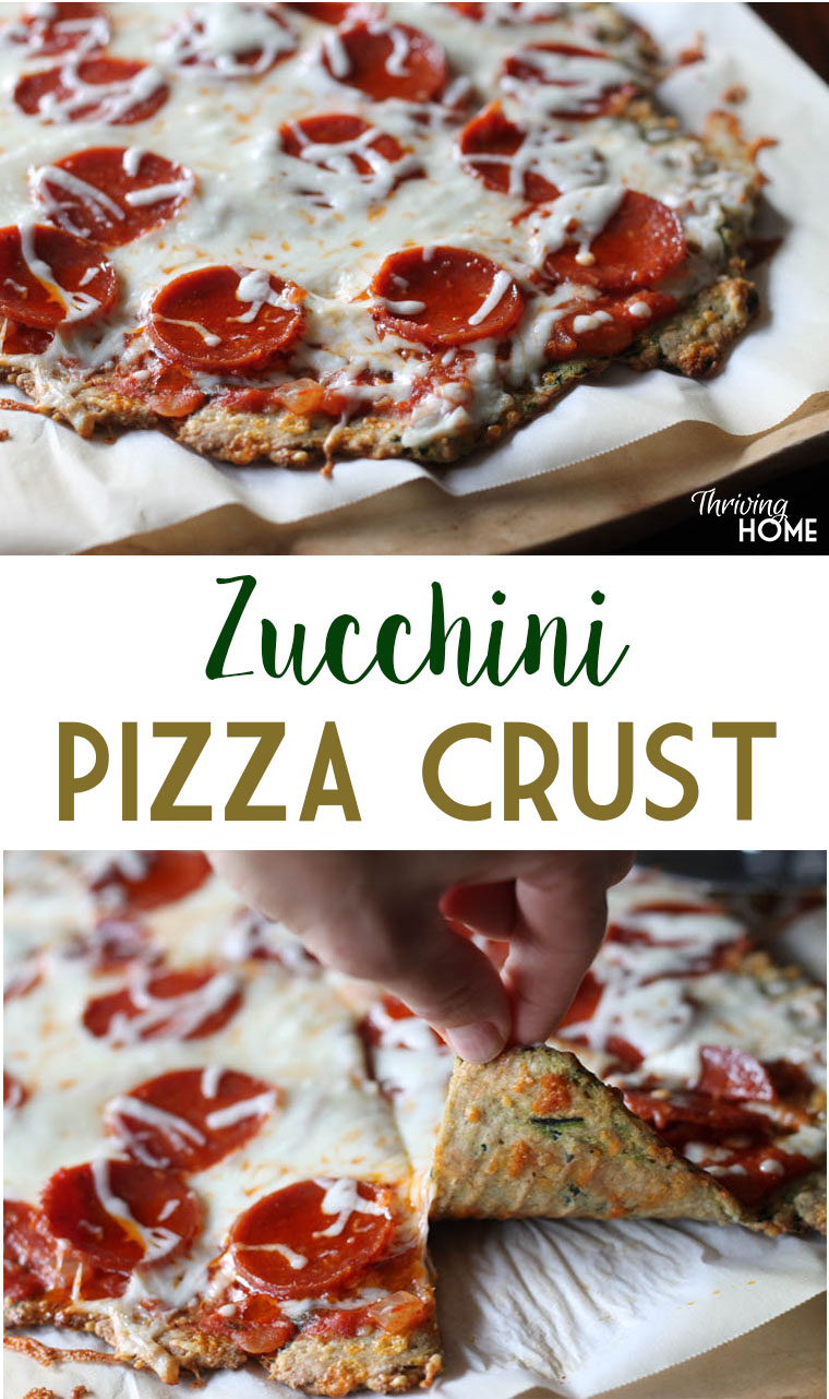 Zucchini Pizza Crust: Seriously, it's good! What a great way to sneak in veggies to your dinner too.