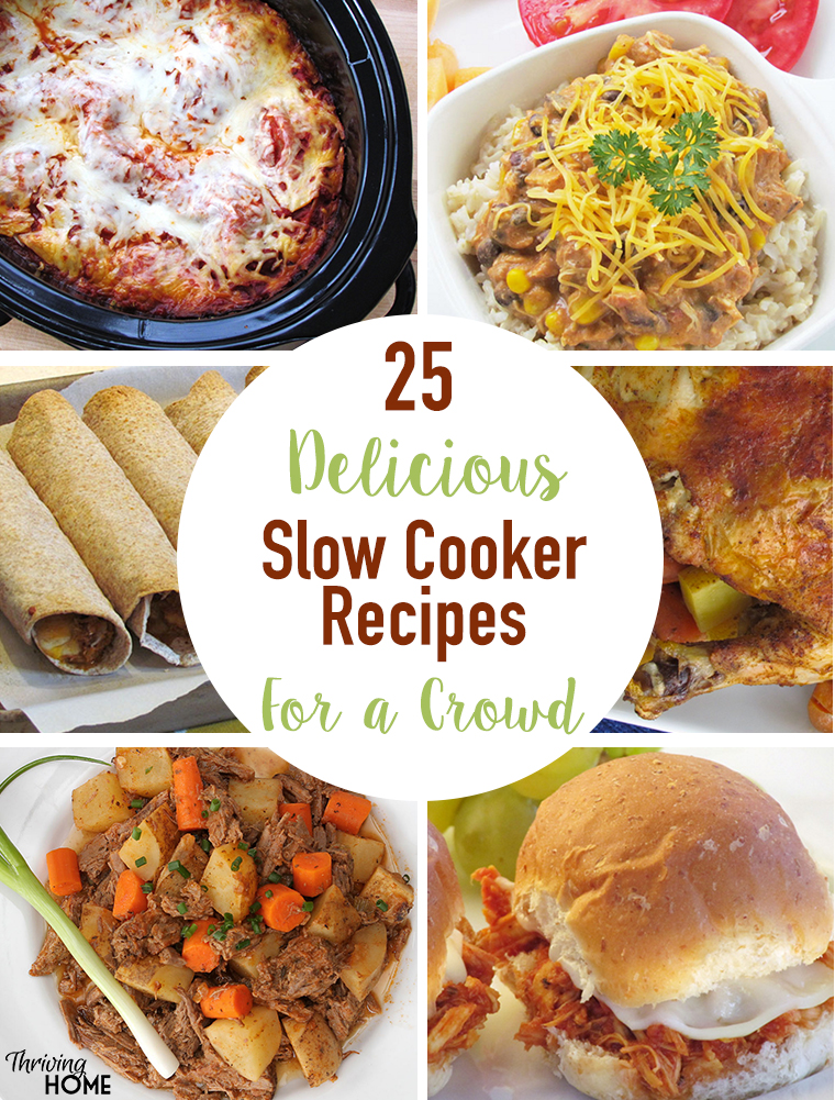 Hosting a crowd soon? The slow cooker is THE best way to cook for a large group. Check out these 25+ delicious slow cooker recipes for a crowd!