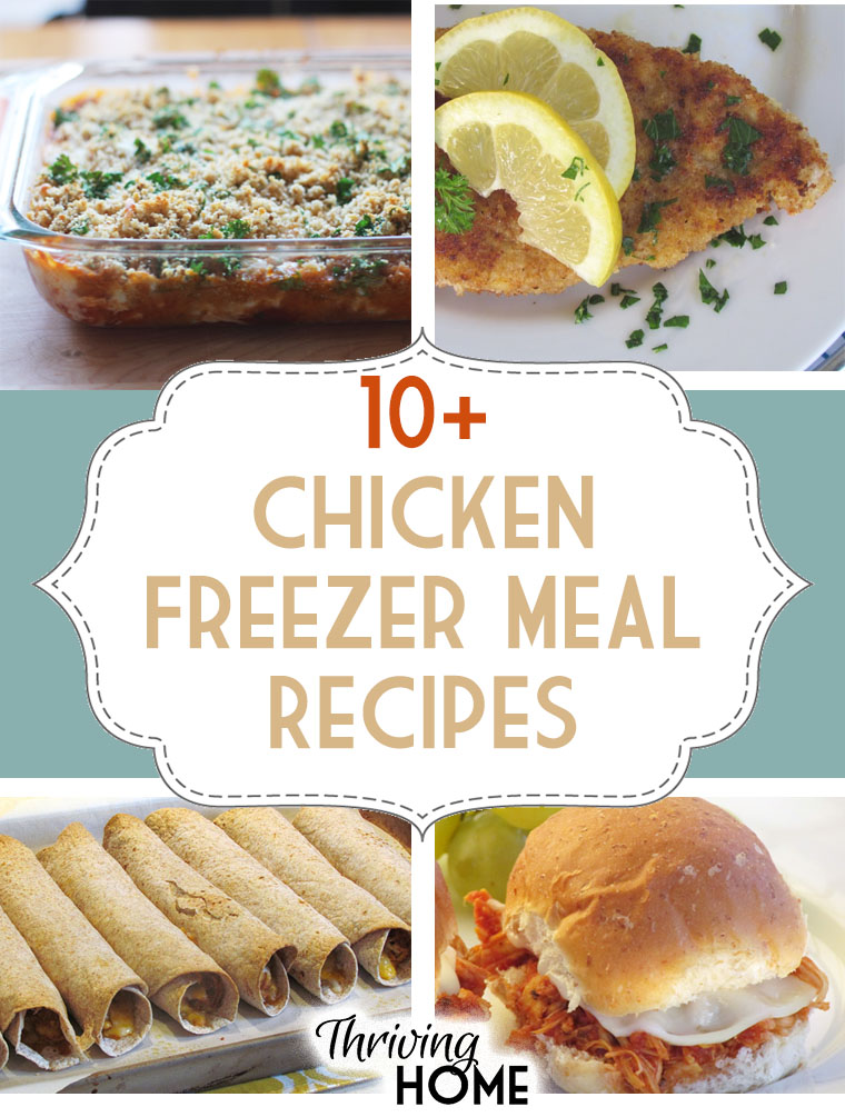 20+ Easy to make, real food chicken freezer meal recipes.