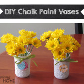 "DIY Chalk Paint Vases (or ""Look, I Did a Real Live Craft!"")"