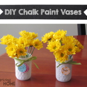 DIY Chalk Paint Vases - An easy, fun craft for many ages!