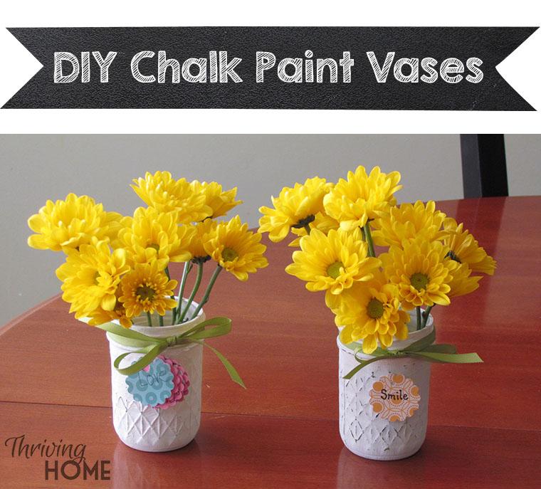 DIY Chalk Paint Vases