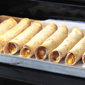 Slow Cooker Chicken and Cheese Taquitos {Freezer Meal}