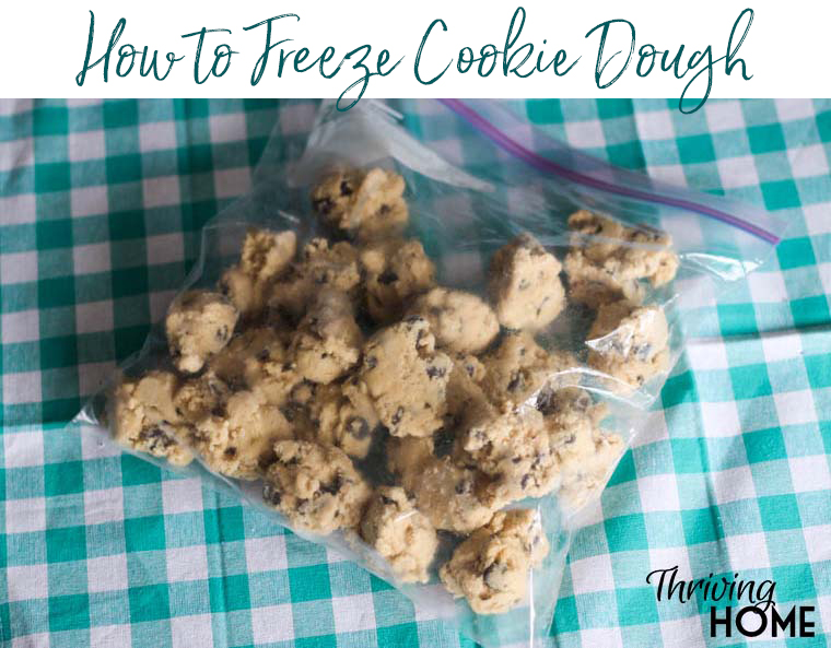 How to freeze cookie dough. Only bake what you will eat and freeze the rest. No more throwing away cookies!