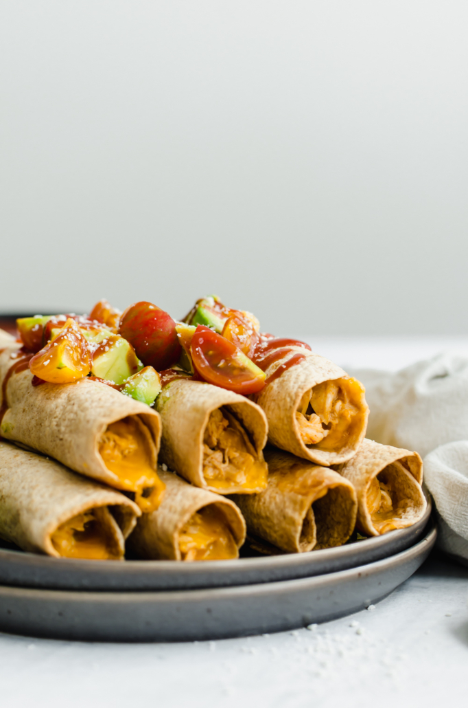 Slow cooker chicken and cheese taquitos