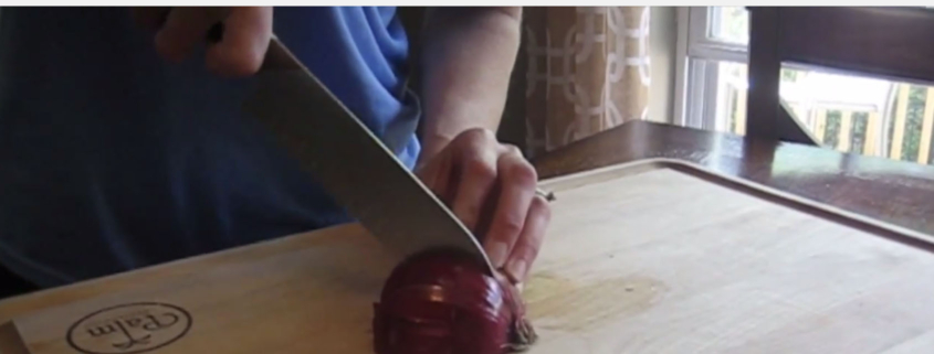 A short video tutorial on the easiest way to chop an onion