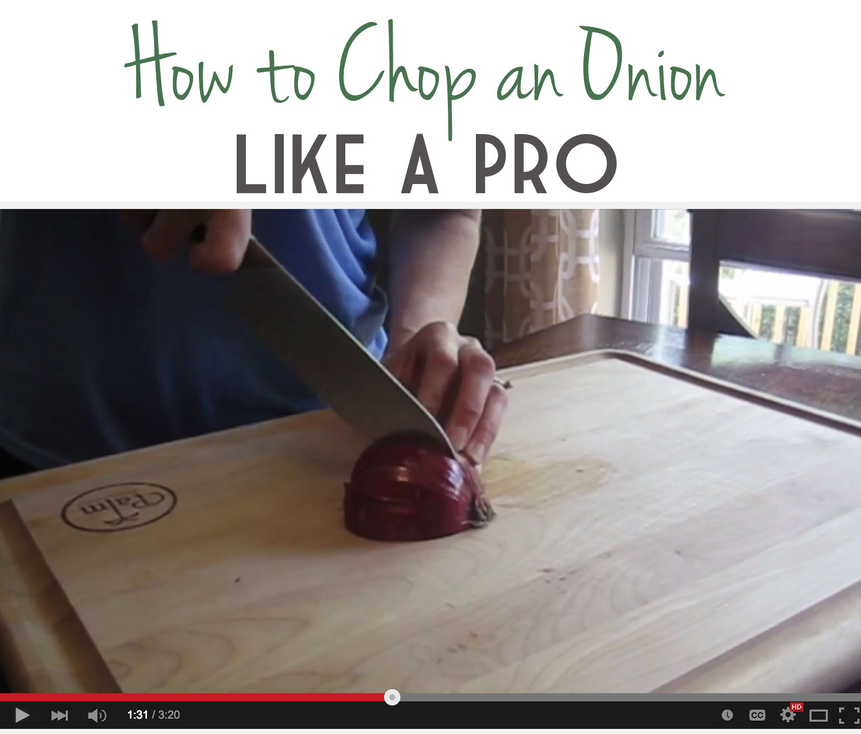 A short video tutorial on the easiest way to chop an onion.