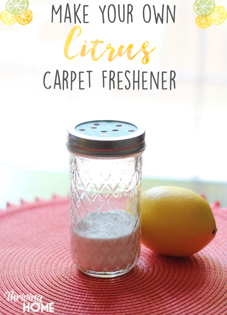 Make your own carpet freshener using baking soda and essential oils