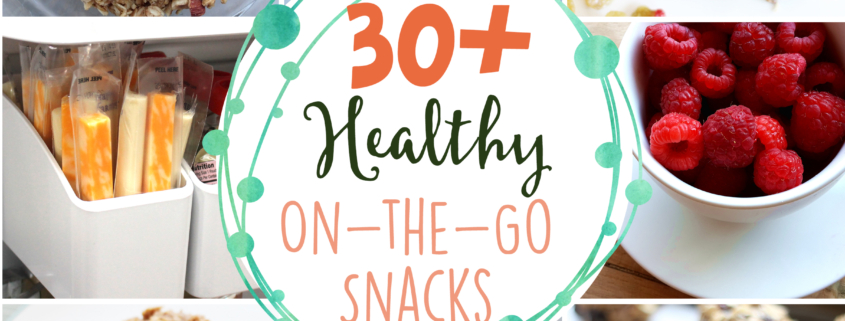 Kids and adults alike love these 30+ healthy on-the-go snacks.