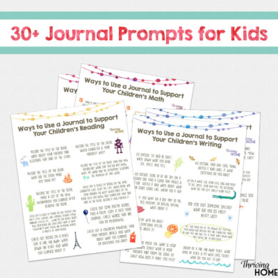 Start a Summer Journal for Kids (+ FREE Printable of 30+ Writing Prompts)