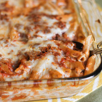 Hearty Baked Penne Pasta {Freezer Meal}