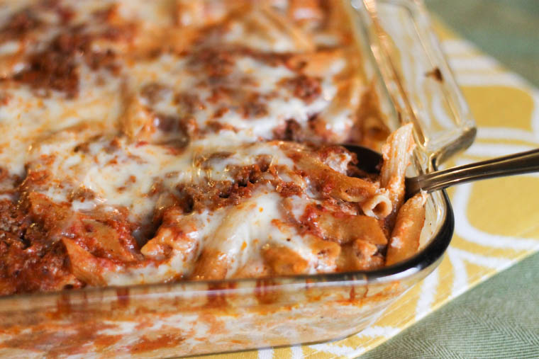 Freezer Friendly Baked Penne Pasta Recipe.