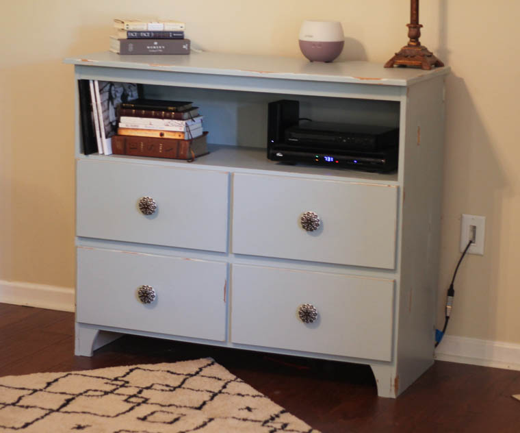 Changing Table Repurposed into Entertainment Center-3