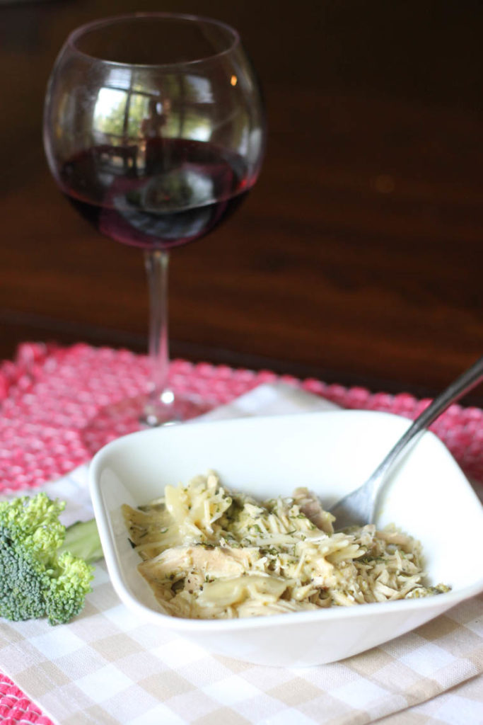 Slow Cooker Chicken and Broccoli Alfredo Pasta. Super easy to put together and has proven to be a win with all family members. | Thriving Home