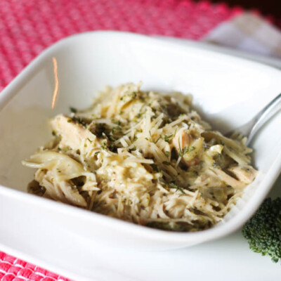 Slow Cooker Chicken and Broccoli Alfredo Recipe
