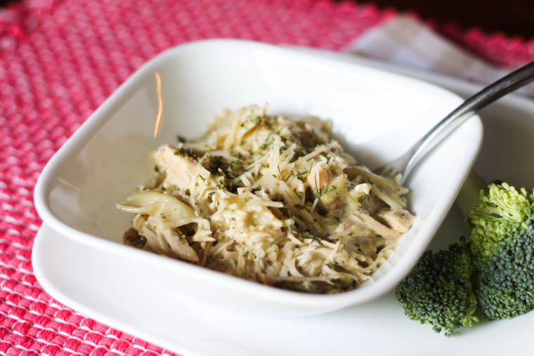 Slow Cooker Chicken and Broccoli Alfredo