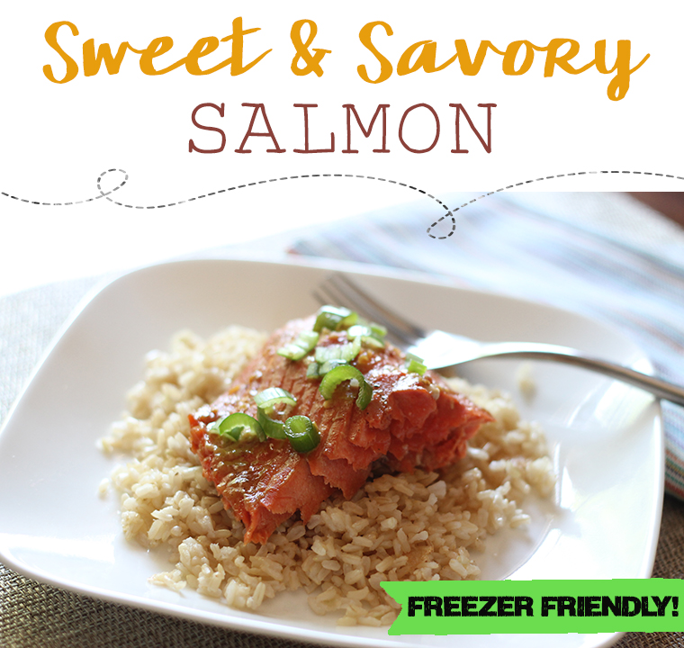 Freezer Friendly Sweet and Savory Salmon is a perfect marriage of sweet and savory marinade ingredients, along with the foil-cooking method, take salmon filets to a whole new level. Broiling at the very end is necessary to create caramelization on top.