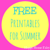 FREE Fun Printables for Summer
