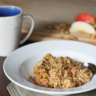 """Apple Cinnamon Baked Oatmeal is hearty, healthy, delicious, and fairly adaptable to whatever ingredients you have on hand. Plus, leftovers keep well in the fridge for several days. Serve it up as a tasty start to your day or as a """"breakfast-for-dinner"""", along with bacon and a fruit salad."""