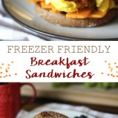 Make-Ahead Breakfast Sandwiches {Freezer Meal}