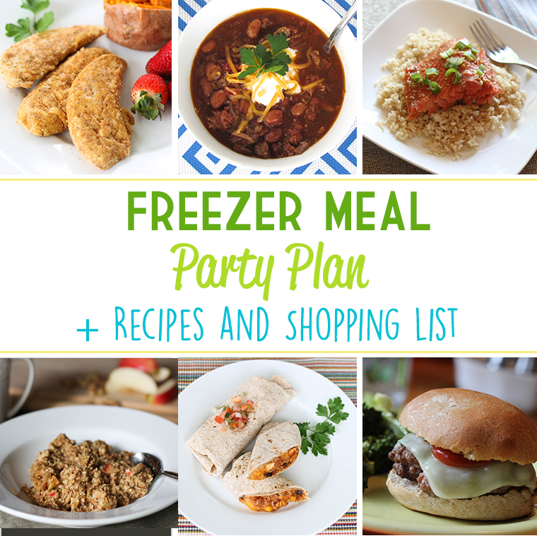 Throw a Freezer Meal Party for a fun and productive night with friends! Save time and money, all while putting together six healthy prepared meals for the freezer! #freezermeal #realfood
