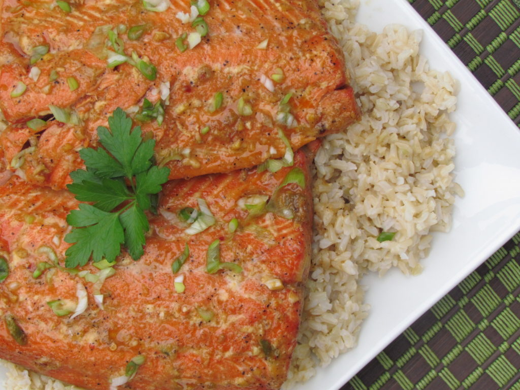 Sweet and Savory Salmon in Foil