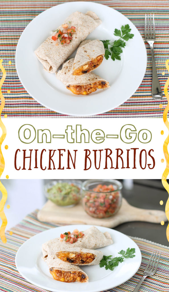On-the-go Chicken Burritos