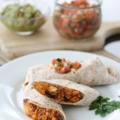 On-the-Go Chicken Burritos {Freezer Meal}