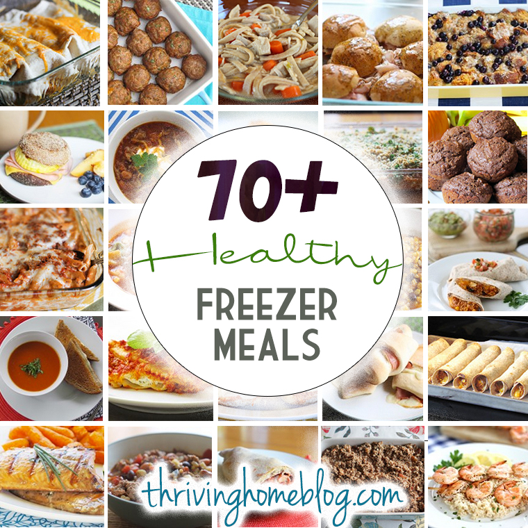 70+ healthy freezer meals. Freezing instructions included in every recipe! These ladies are freezer cooking pros and have gobs of information on make ahead meals, freezer cooking parties, and even a freezer meal cookbook! Take a browse at this great collection of freezer friendly recipes that your family will actually eat! #freezermeals