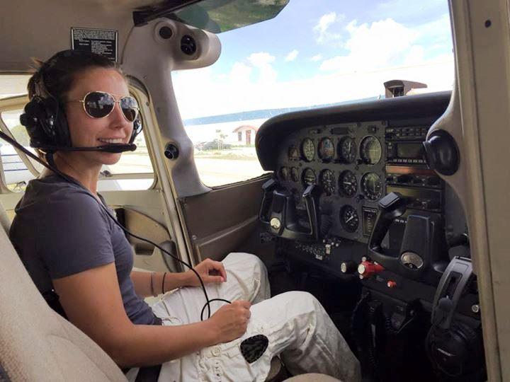 Cayla Flying a Plane