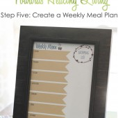 Healthy Living Small Step #5: Create a Weekly Menu Plan