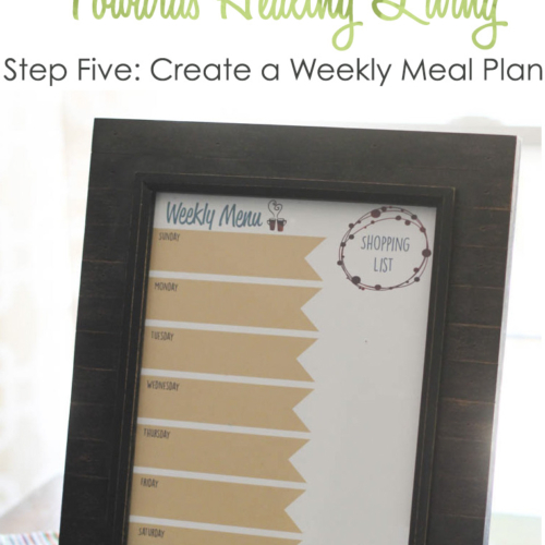 Healthy Living Step #5: Create a Weekly Meal Plan