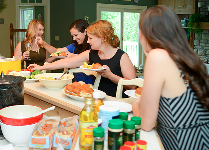 Throw a freezer meal party and have fun while saving time and money! This post is all about how to throw the actual event. #freezermeal
