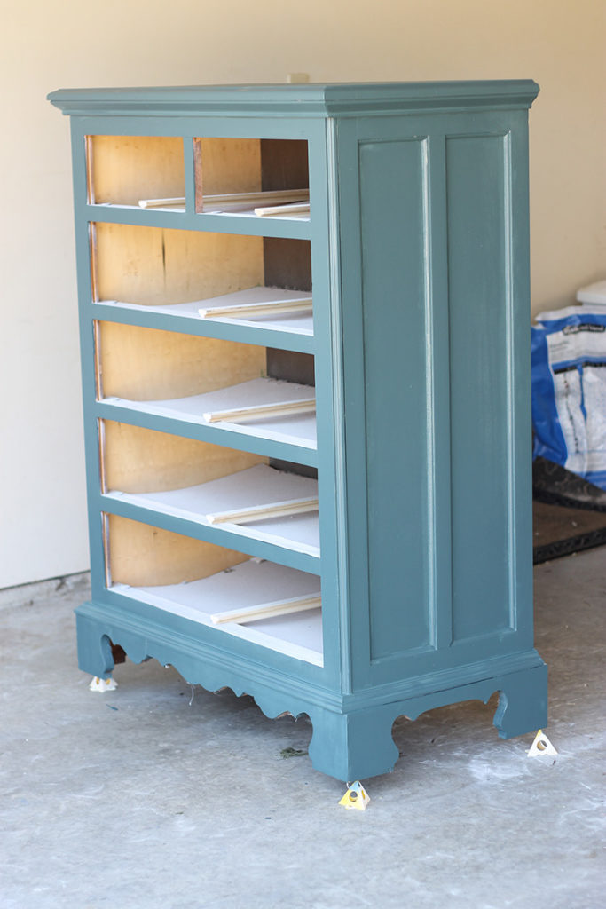 Painting used furniture can save you loads of money! Here is a step-by-step tutorial of how an old dresser found new life for a little girl's room. Lots of other before and after projects on this site as well.